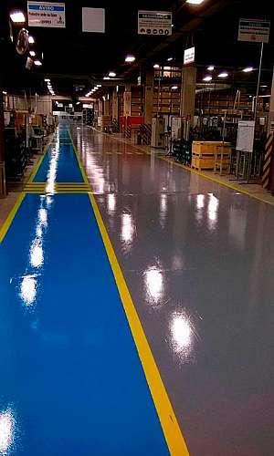 Revestimento de piso industrial em SP